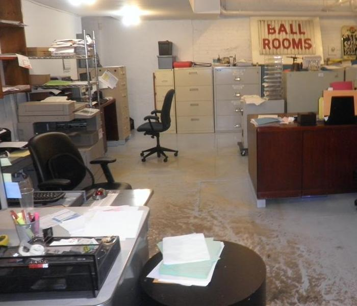 Sewage Damage in Office Before