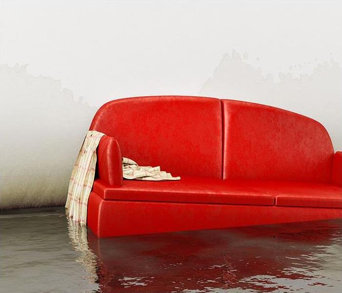 water damage sofa